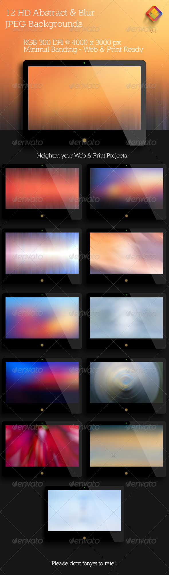 HD Abstract and  Blur Backgrounds V.1 - Abstract Backgrounds