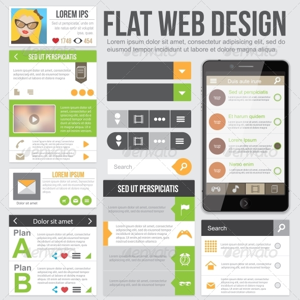 Flat Web Design - Web Technology