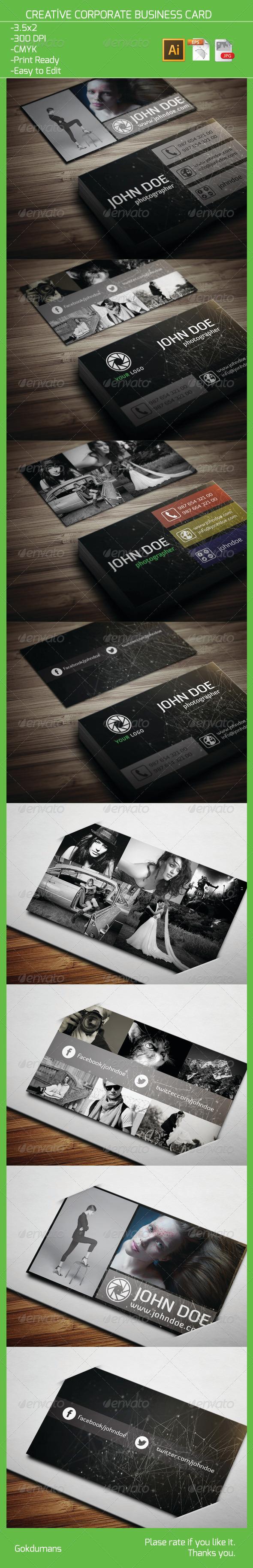 Creative Corporate Business Card 12 - Creative Business Cards