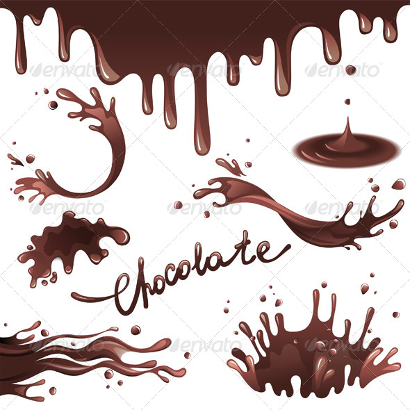 Chocolate Splashes - Food Objects