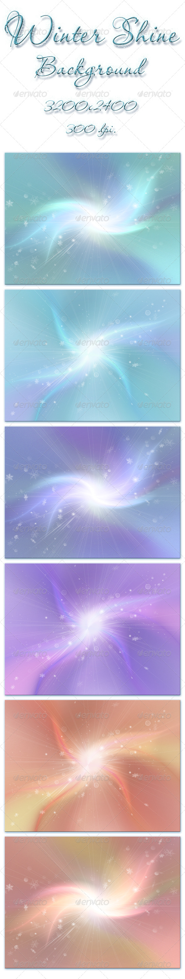 Winter Shine - Abstract Backgrounds