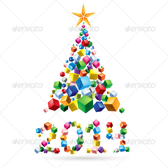 Abstract Christmas Tree. - Miscellaneous Vectors