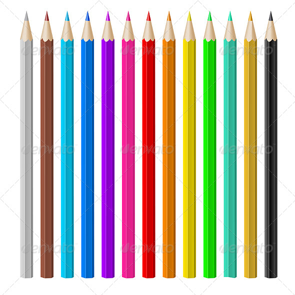 Color Pencils. - Man-made Objects Objects