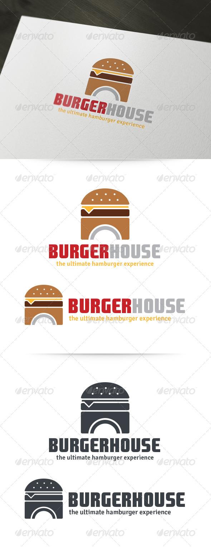 Burger House Logo - Food Logo Templates