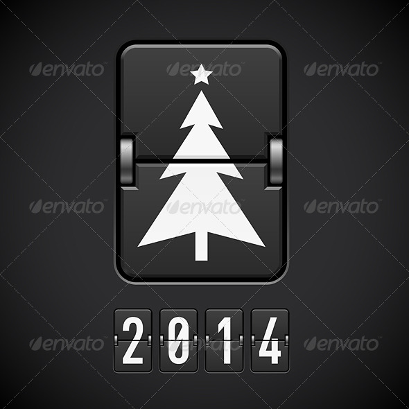 New Year Symbols on Scoreboard. - Miscellaneous Vectors