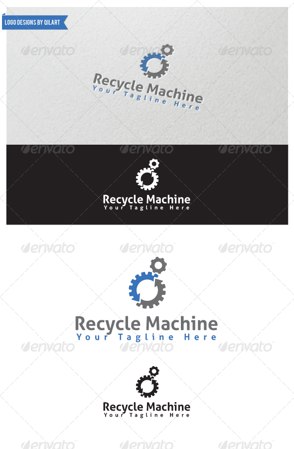 Recycle Machine - Abstract Logo Templates