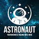 Astronaut Logo Template - GraphicRiver Item for Sale