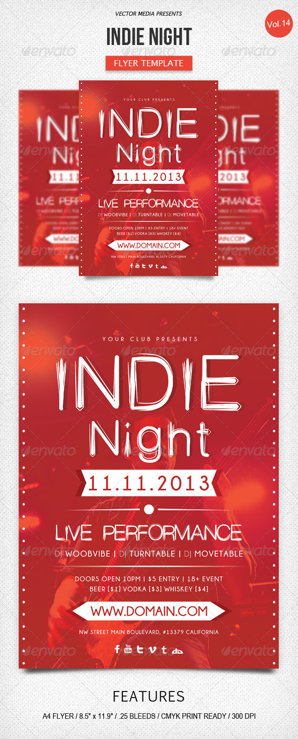 Indie Night - Flyer [Vol.14] - Clubs & Parties Events