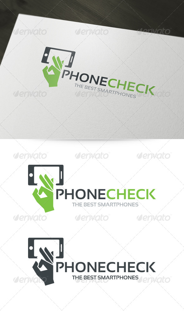 Phone Check Logo - Objects Logo Templates