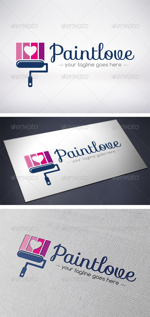 Paint Love Logo - Objects Logo Templates