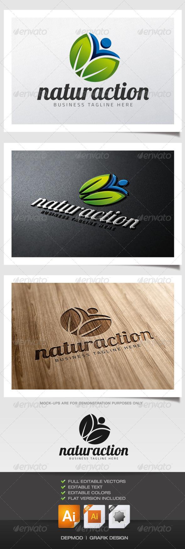 Naturaction Logo - Symbols Logo Templates