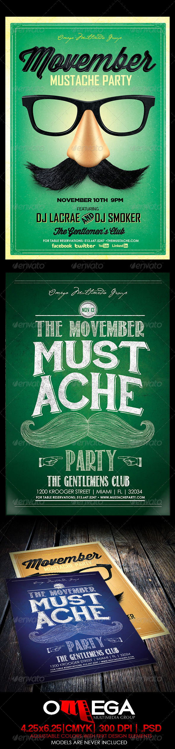 Movember Bundle - Events Flyers