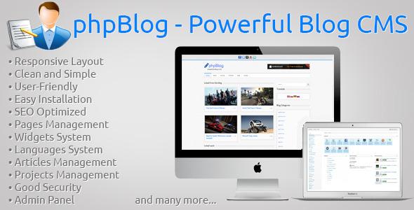 phpBlog - Powerful Blog CMS - CodeCanyon Item for Sale
