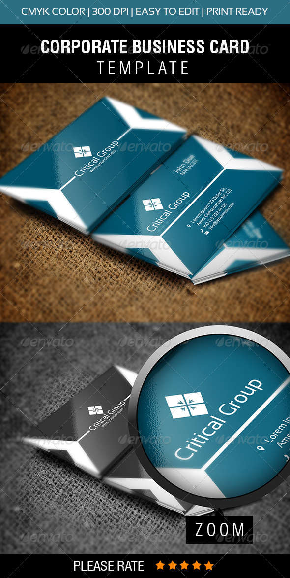 Critical Group Business Card - Corporate Business Cards
