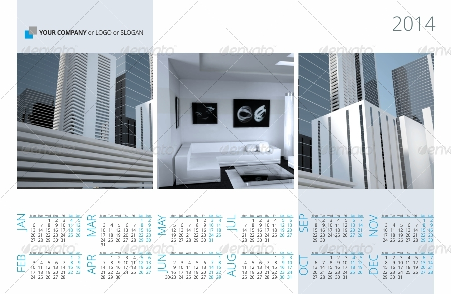 Business Calendars Templates Bundle   By Artremizov