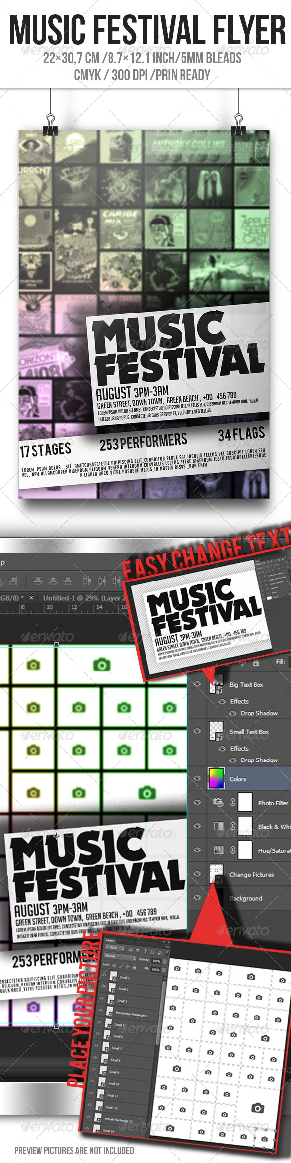 Festival Flyer  - Clubs & Parties Events
