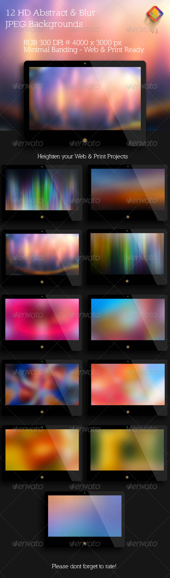 HD Abstract and Blur Backgrounds V.2 - Abstract Backgrounds