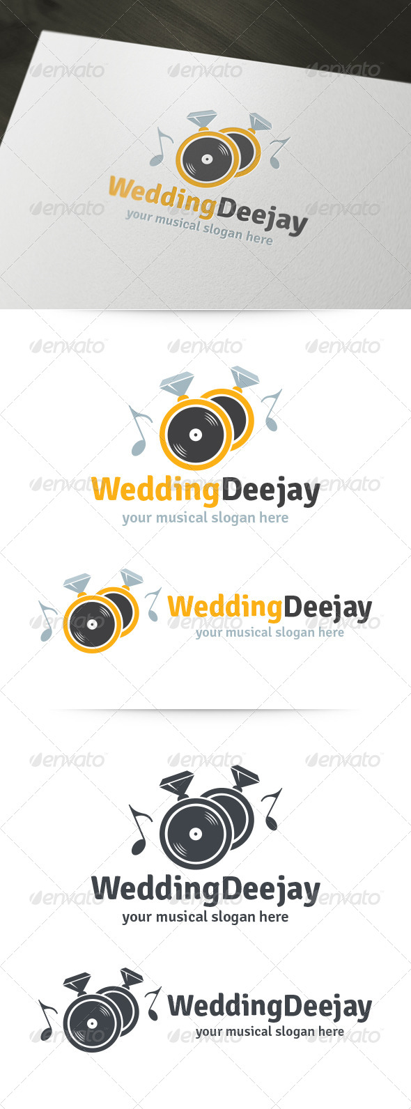 Wedding Deejay Logo - Objects Logo Templates