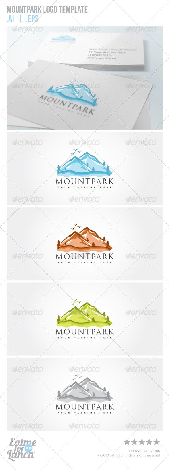 Mountpark Logo Template - Nature Logo Templates