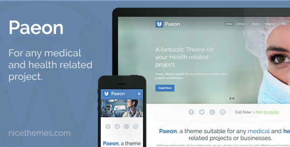Paeon – Medical WordPress Theme