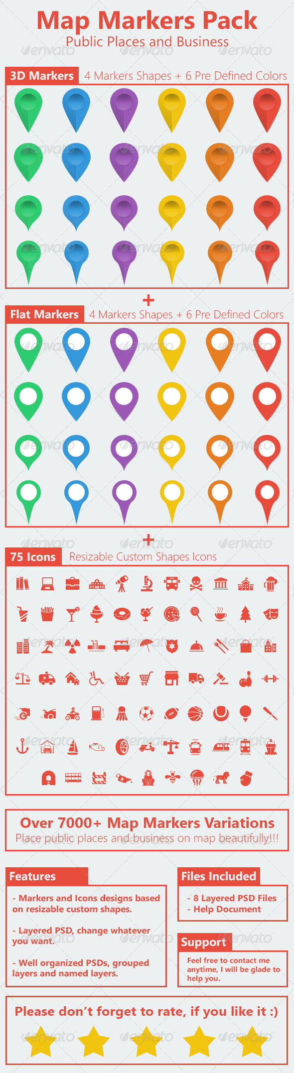 Ultimate Map Markers Pack - Icons