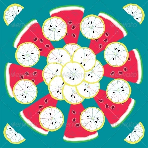 Seamless Citrus Pattern - Miscellaneous Conceptual