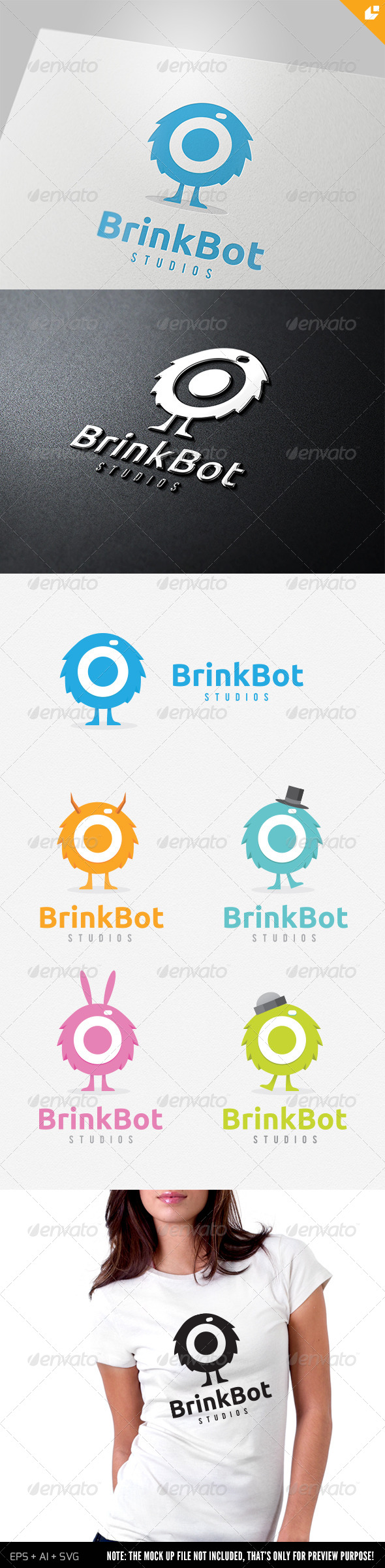 Brink Bot Logo - Humans Logo Templates