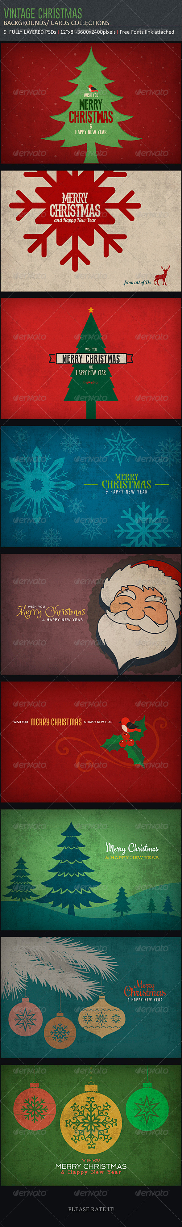 Vintage Christmas Backgrounds - Miscellaneous Backgrounds