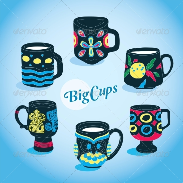 Vector Cups Collection - Miscellaneous Conceptual