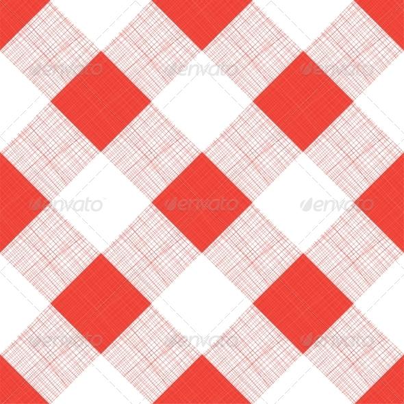 Vector Seamless Picnic Tablecloth Pattern - Miscellaneous Conceptual