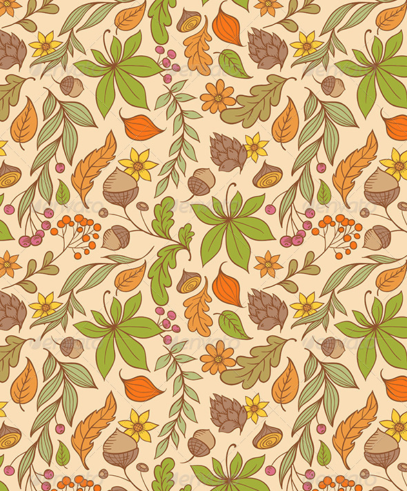 Autumn Seamless Pattern - Patterns Decorative