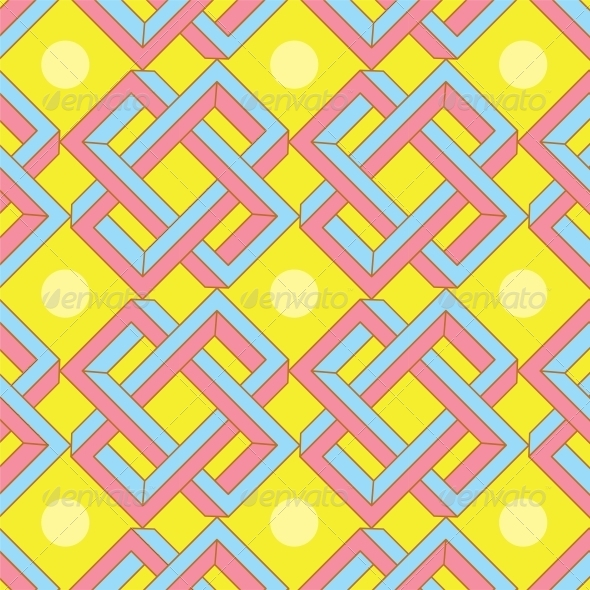 Abstract Optical Illusion Seamless Pattern - Miscellaneous Conceptual