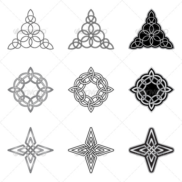Celtic Knots Models and Patterns - Decorative Symbols Decorative