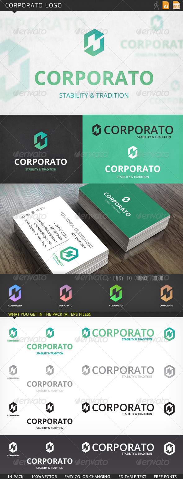 Corporato Abstract Logo Template - Abstract Logo Templates