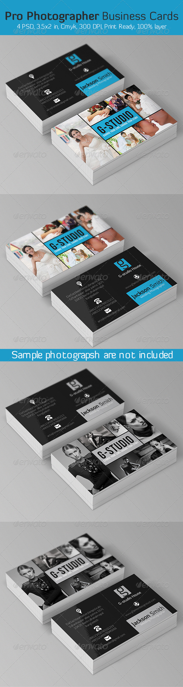 Pro Photographer Business Card - Business Cards Print Templates