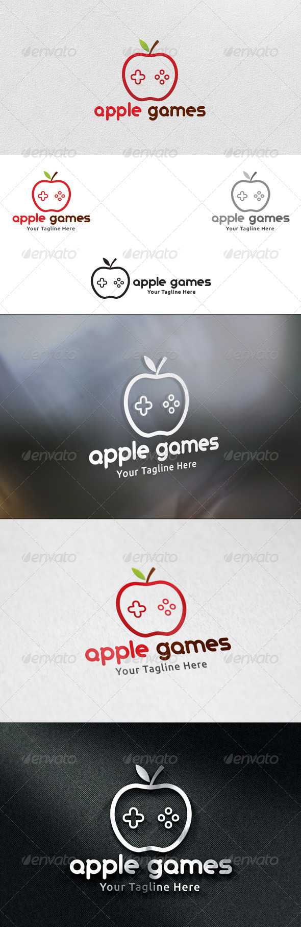 Apple Games - Logo Template - Nature Logo Templates