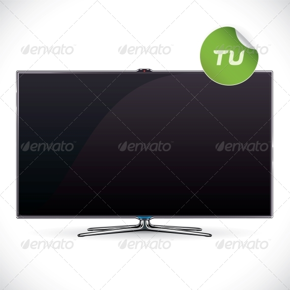 Black Glossy LCD TV - Miscellaneous Conceptual