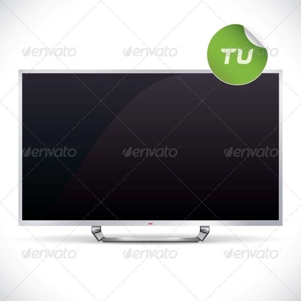 Black Glossy LCD TV - Miscellaneous Conceptual