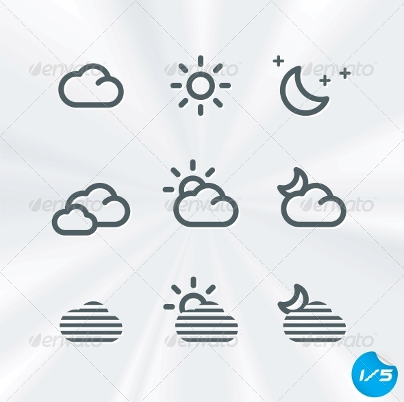 Vector Weather Icons Collection - Miscellaneous Conceptual