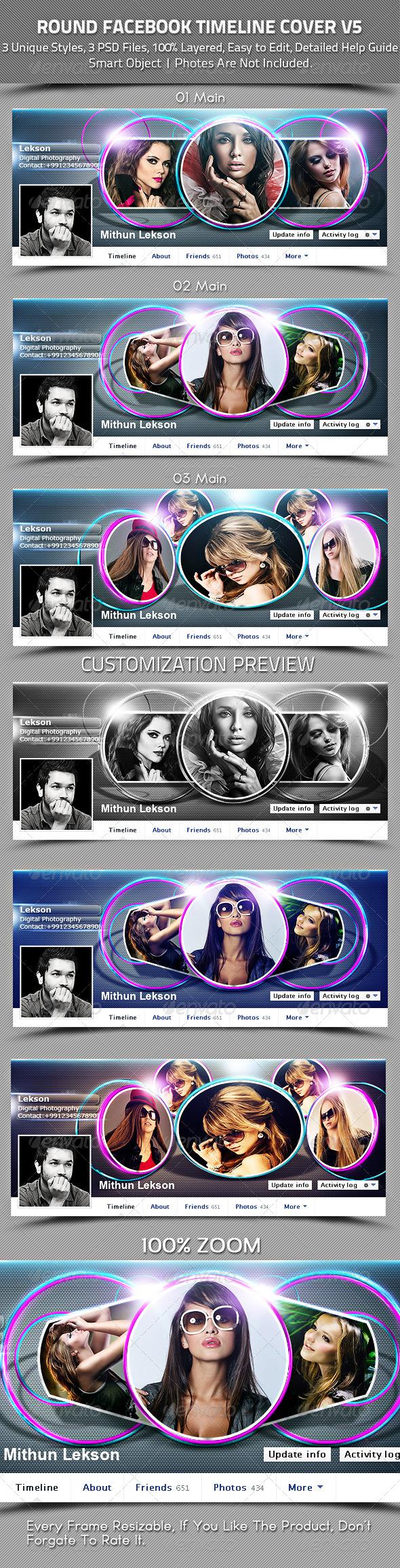 Round Facebook Timeline Cover V5 - Facebook Timeline Covers Social Media