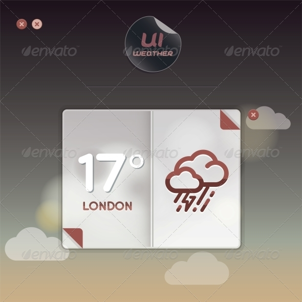 Weather Widget Illustration - Miscellaneous Conceptual