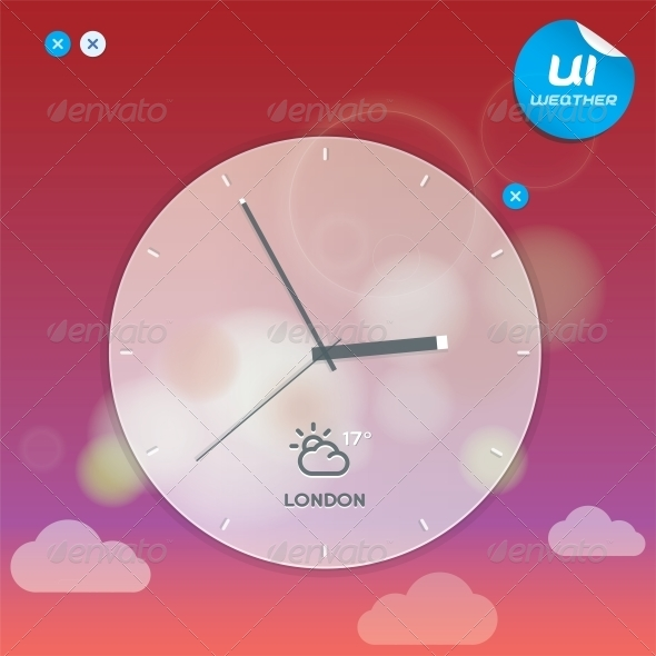 Vector Weather Widget - Miscellaneous Conceptual