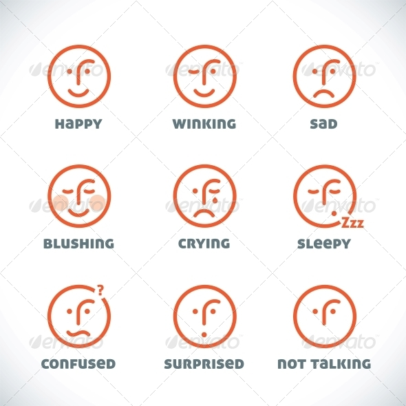 Smiles Icons - Miscellaneous Conceptual
