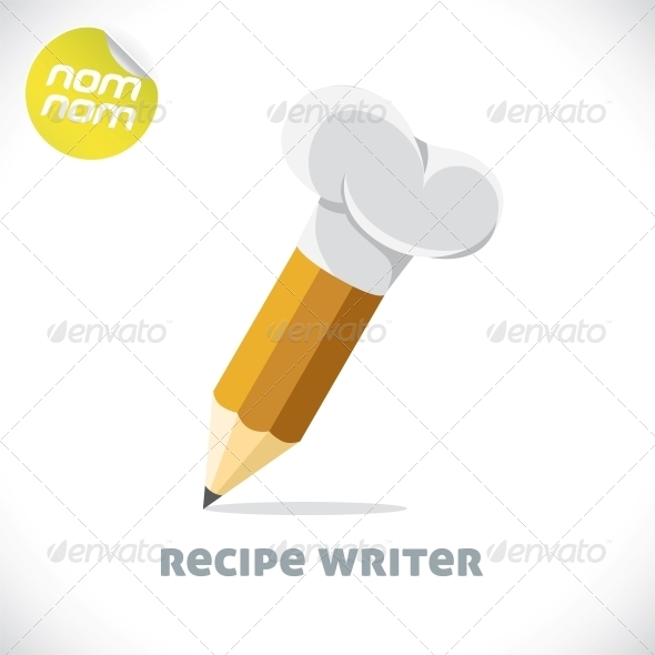 Recipe Writer Illustration - Miscellaneous Conceptual