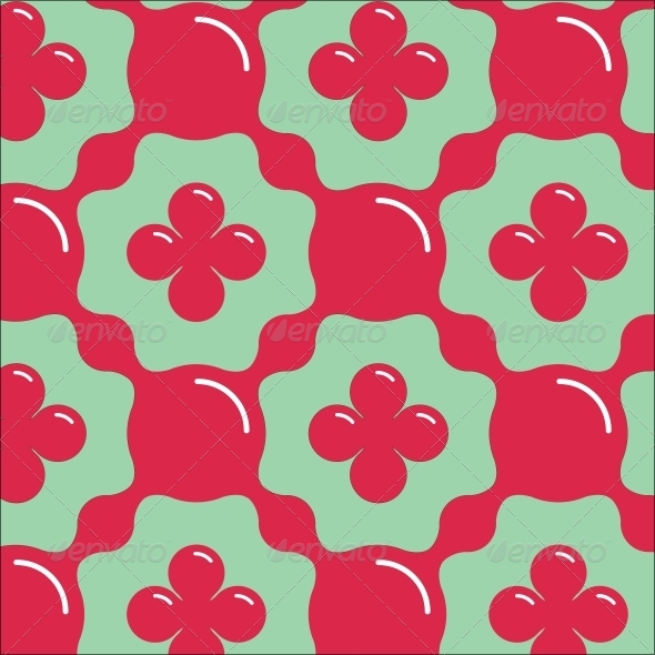 Aqua Floral Seamless Pattern - Miscellaneous Conceptual