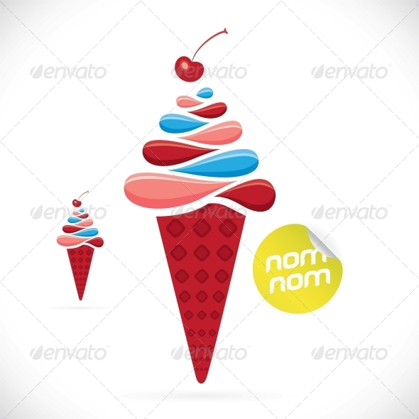 Ice Cream Illustration - Miscellaneous Conceptual