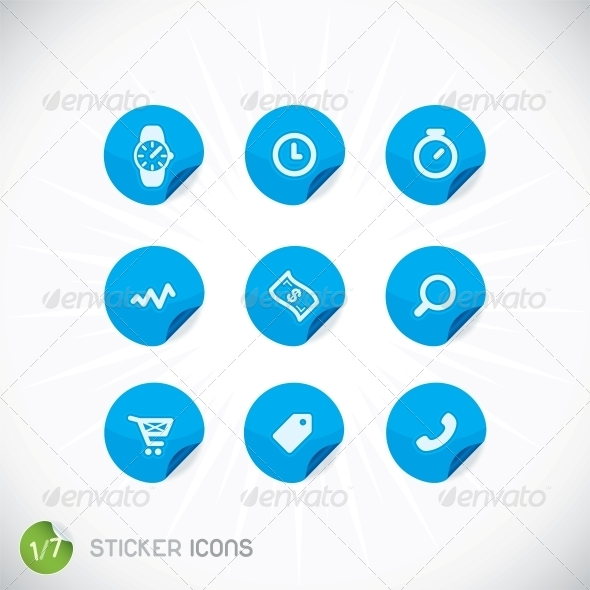 Sticker Icons - Miscellaneous Conceptual