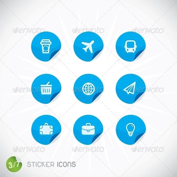 Sticker Icons - Miscellaneous Conceptual