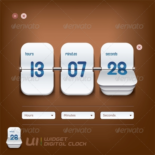 Digital Clock Illustration - Miscellaneous Conceptual