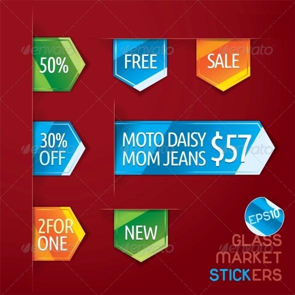 Glass Market Stickers - Miscellaneous Conceptual